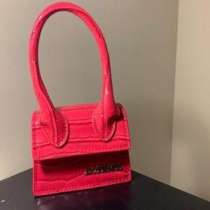 Pink Croc jacquemus bag